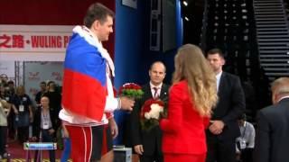 Награждение чемпионов по тяжелой атлетике 2013