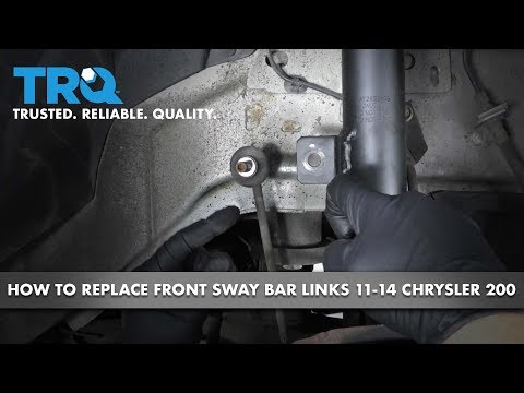 How to Replace Front Sway Bar Links 11-14 Chrysler 200