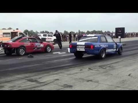 Opel Calibra vs. BMW E30 | Drag Racing Kiskunlacháza 2014.09.13