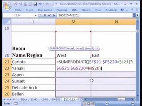 cross tabulation excel  Excel Statistics 17: Categorical Cross Tabulation with Formulas ...