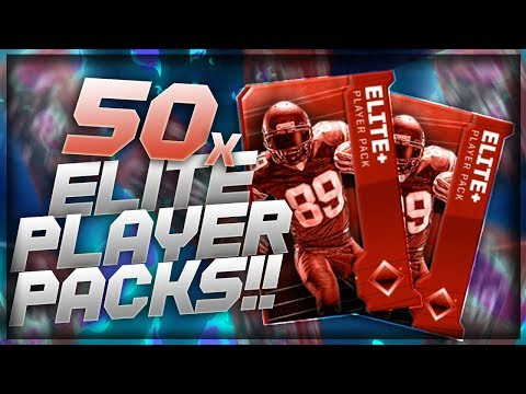 MADDEN OVERDRIVE *50* ELITE PLAYER PACK OPENING!! CAN WE PULL A DIAMOND!!