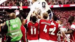 "Arsenal FA Cup Champions 2014 ""The Wait Is Over"""