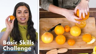 50 People Try To Make Orange Juice | Basic Skills Challenge | Epicurious