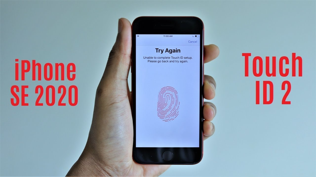 iPhone SE 2020 Touch ID Setup & Speed Test - YouTube