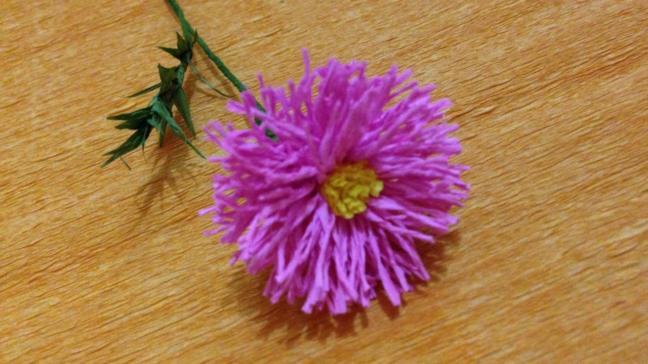 Crepe paper asters 62