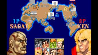 Street Fighter Collection 2 [PS1] - play as bosses in SF2:WW