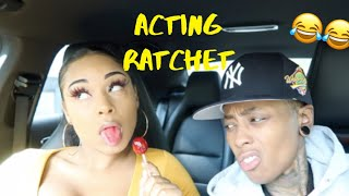 """ACTING """"RATCHET"""" TO SEE HOW MY BOYFRIEND REACTS... *HILARIOUS*"""