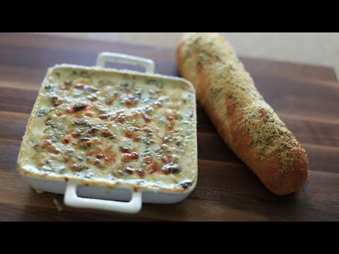 Easy spinach artichoke dip without sour cream