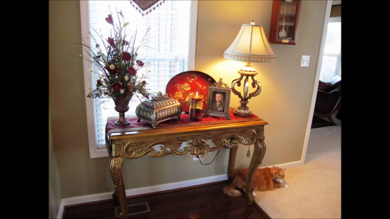 Foyer Table Ideas foyer table decorating ideas - youtube