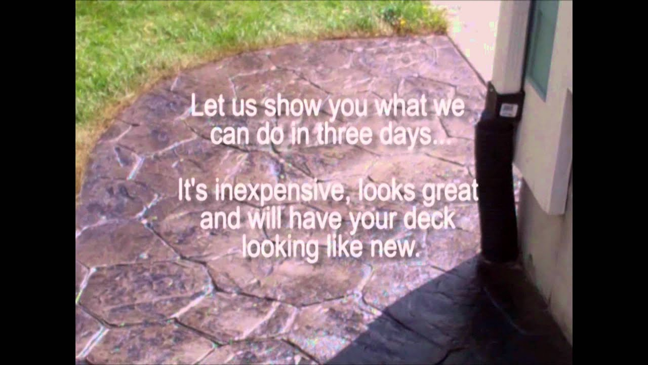 lifestyle backyards stamped concrete restoration youtube