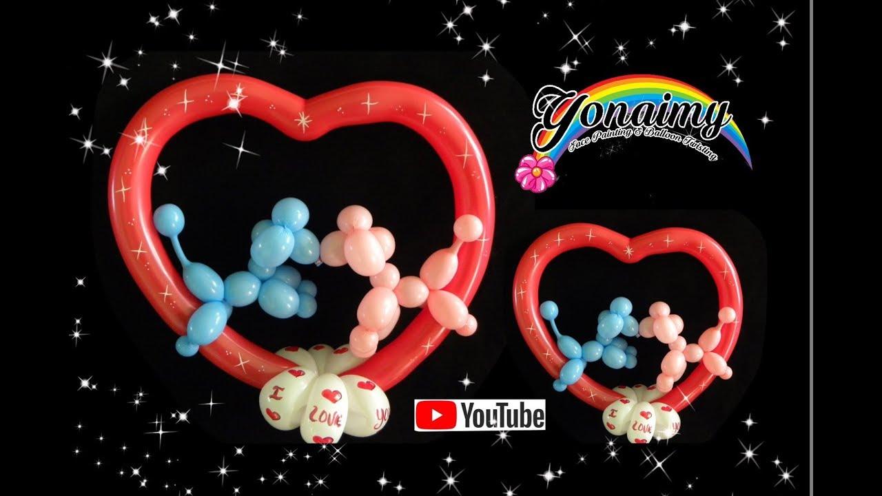 Perritos enamorados puppies in love globoflexia - Como hacer figuras con globos ...