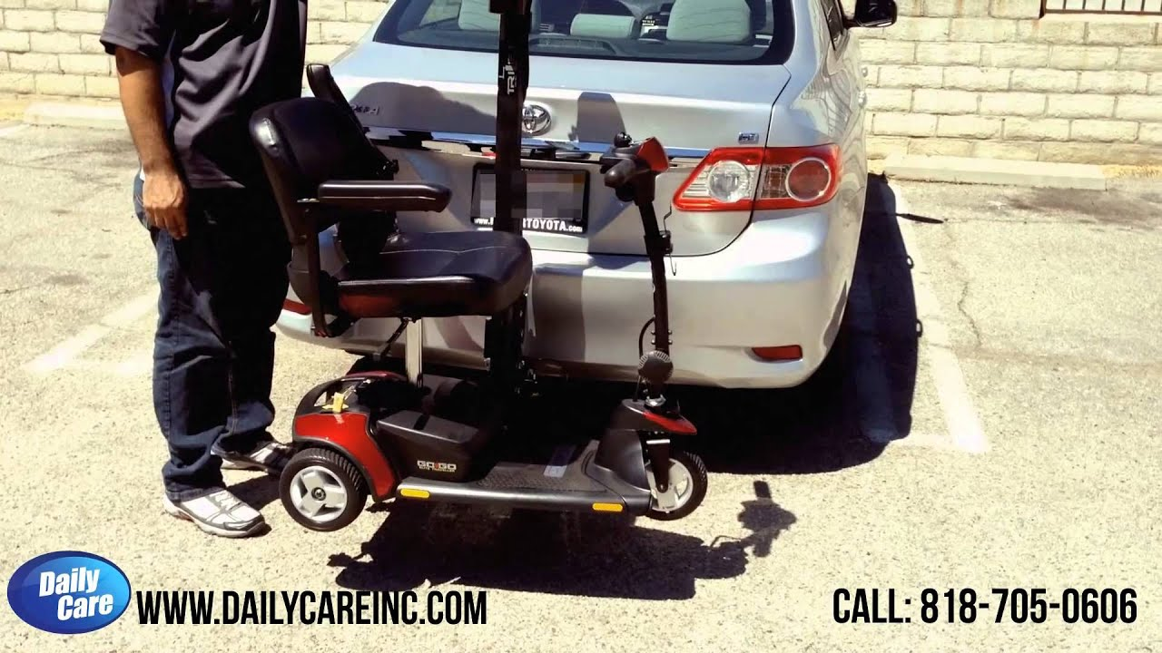 2014 Toyota Corolla For Sale >> TriLift Scooter Lift on Toyota Corolla - YouTube
