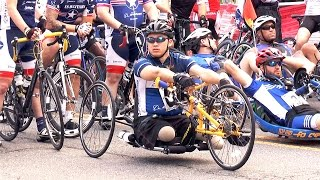 Boeing Employee, Double Amputee, Has a Handcycle and a Positive Attitude