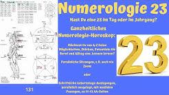 Ganzheitliche Numerologie - die Zahl 23