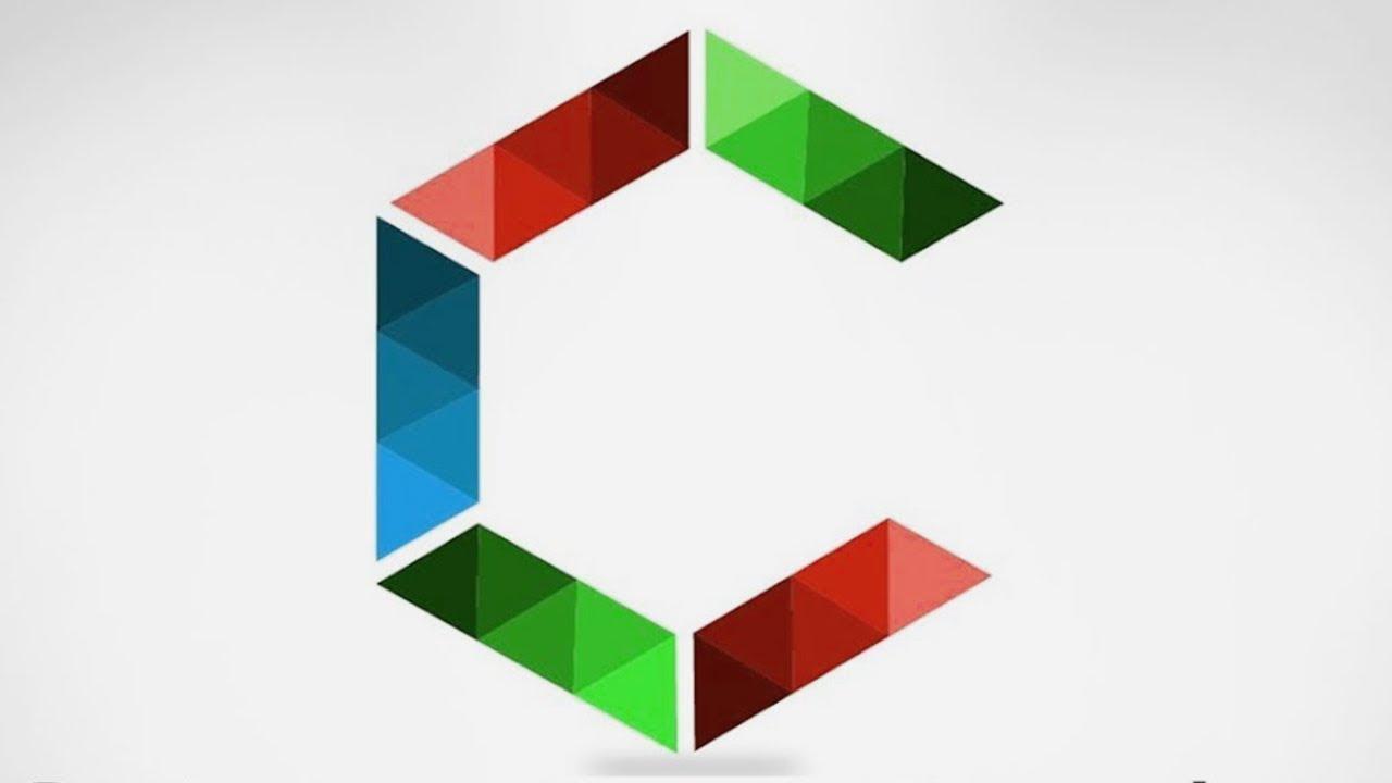 C - Letter logo design in adobe Illustrator | tutorial - YouTube