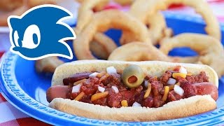 SONIC CHILI DOGS WITH GOLD ONION RINGS - NERDY NUMMIES Thumbnail