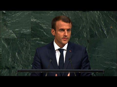 France's Macron at UN defends Iran deal