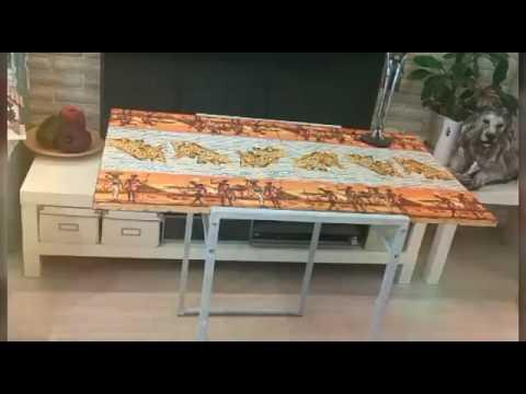 Декор стола своими руками. Обновление старого стола. Decoupage table.