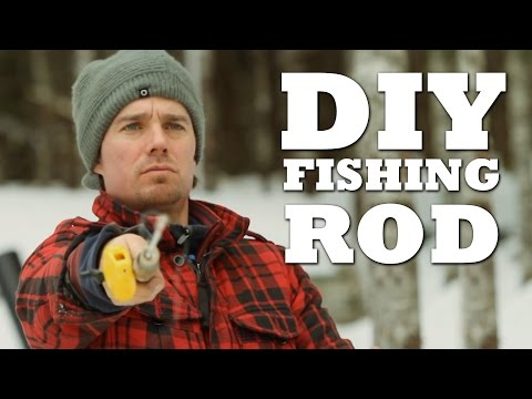 How To Make An Ice Fishing Rod Youtube