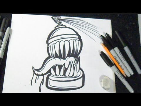 Comment Dessiner Arosol Graffiti  Youtube