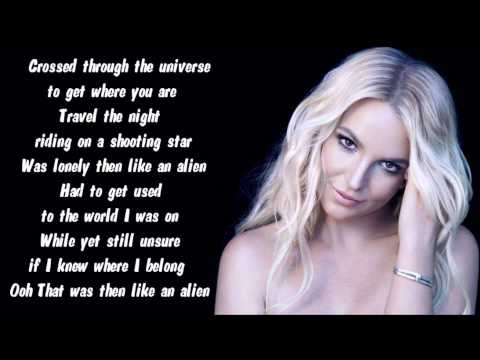 Britney Spears - Alien Karaoke / Instrumental with lyrics on screen