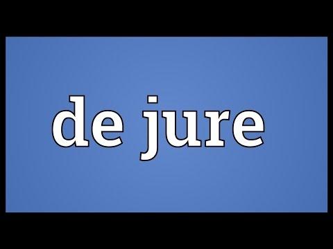 De jure Meaning