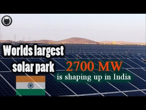 India Is Building The World's Largest Solar Plant