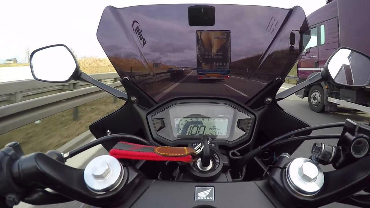 Honda CBR500R Höchstgeschwindigkeit | Top speed