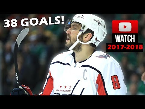 Alex Ovechkin 2017-2018 NHL Season All Goals So Far. 38 Goals! (HD)