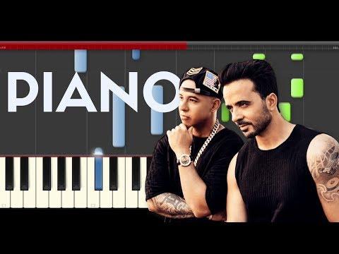 Luis Fonsi Despacito ft. Daddy Yankee piano midi Justin Bieber Hassam  cover app karaoke