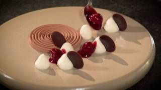 Dessert Chocolate, whipped cream with kirsch and slightly sour cherry - 40 amazing desserts