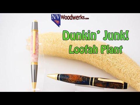 Real Loofah Resin Cast Alumilite Pen Blanks - Dunkin' Junk!