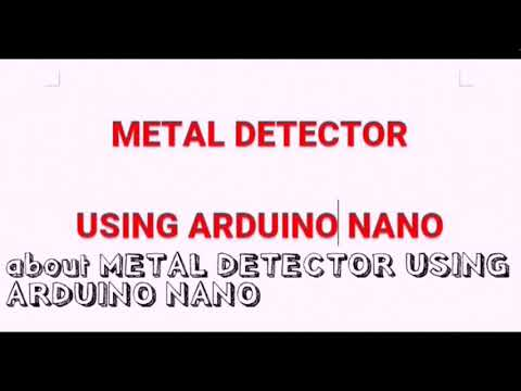 Metal detector using Arduino Nano