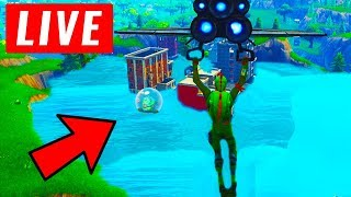FORTNITE IS FLOODING RIGHT NOW! (POLAR PEAK MELTING LIVE)  GREASY GROVE FLOODING LIVE