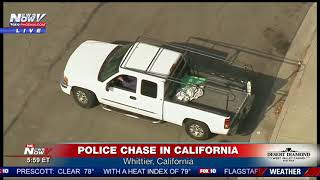 WATCH: VERY DANGEROUS Police Chase in California (FNN)