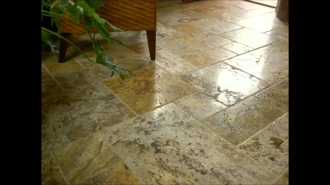 Travertine tile pattern floor youtube travertine tile pattern floor dailygadgetfo Images
