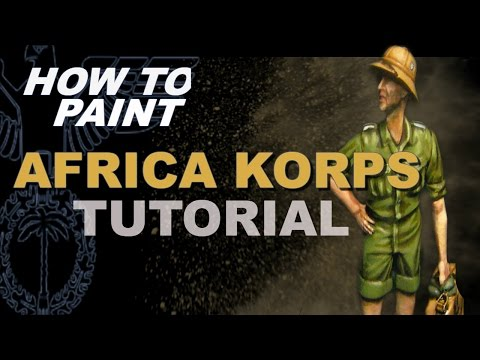 how to paint 1/35 German Africa Korps Painting Tutorial