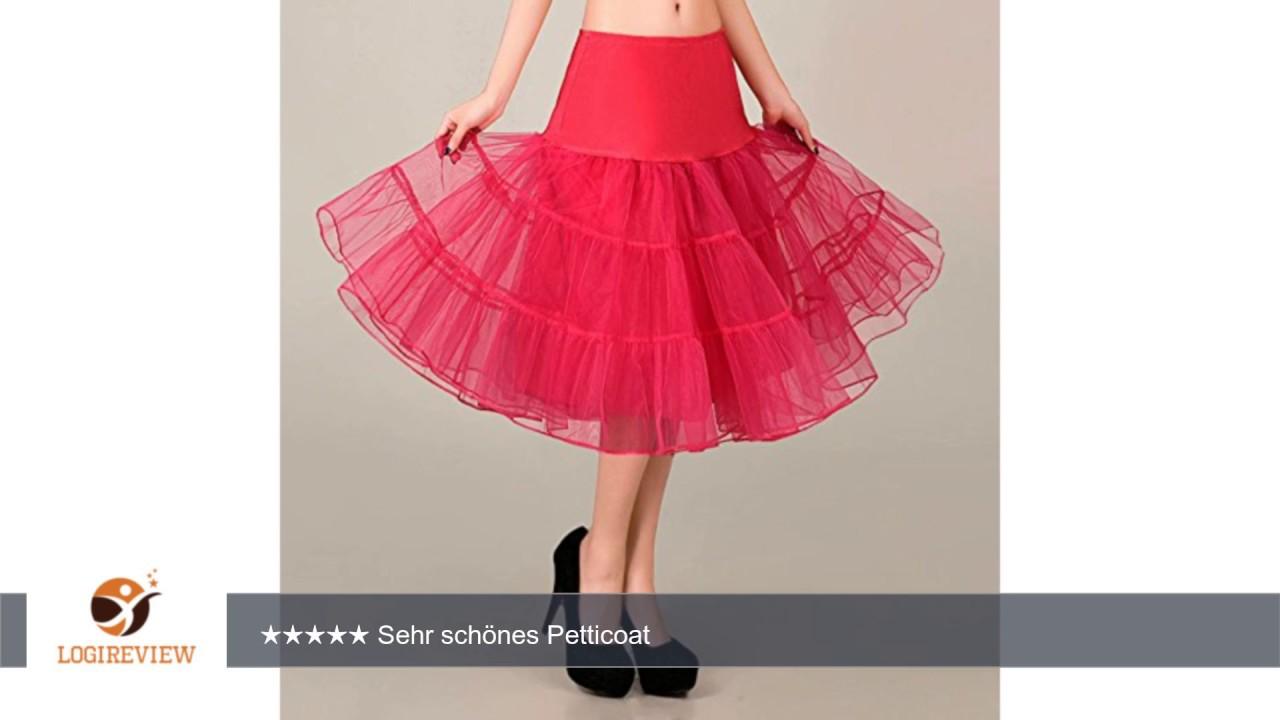 VKStar® Kurz elastische Taille petticoat Krinoline Unterrock ...