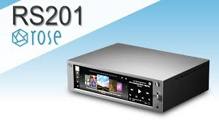 RS201 HIFI ROSE - Media center 4K haute fidélité DAC & Ampli intégré