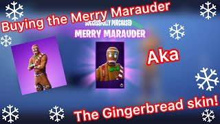 Buying the Merry Marauder skin! / Fortnite