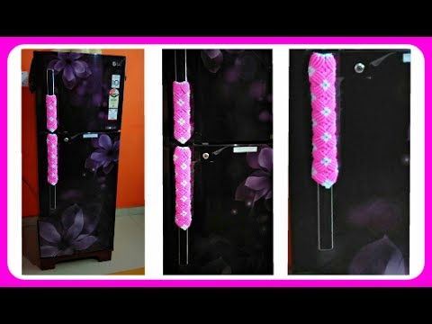 Simple Fridge Door Protective Handle Cover In Hindi With