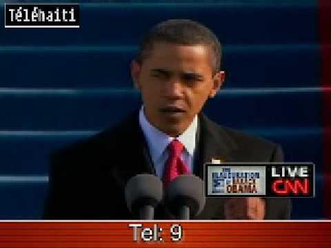 Barack Obama Intronisation - Inauguration - President Noir Americain - Haiti News -  Tele Haiti