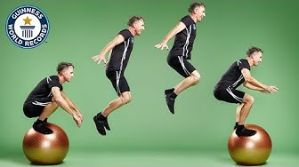 Fastest time to jump across 10 exercise balls - Guinness World Records
