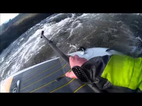 Sun, SUP Swims, trees, rescue, rocks, the white water SUP River barle sup