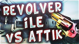 REVOLVER İLE VS ATTIK MESUT KOMİSER AĞLIYOR (CS:GO)