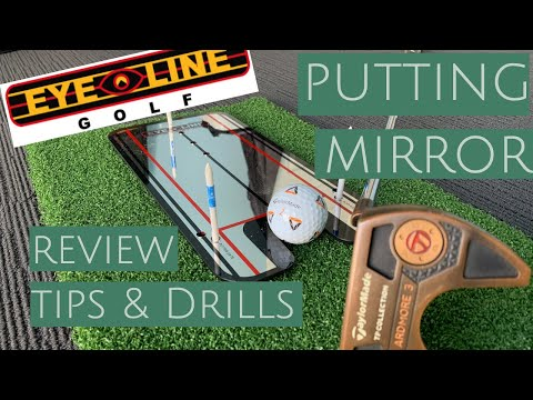 EYELINE GOLF PUTTING MIRROR // product review // demo, tips and drills
