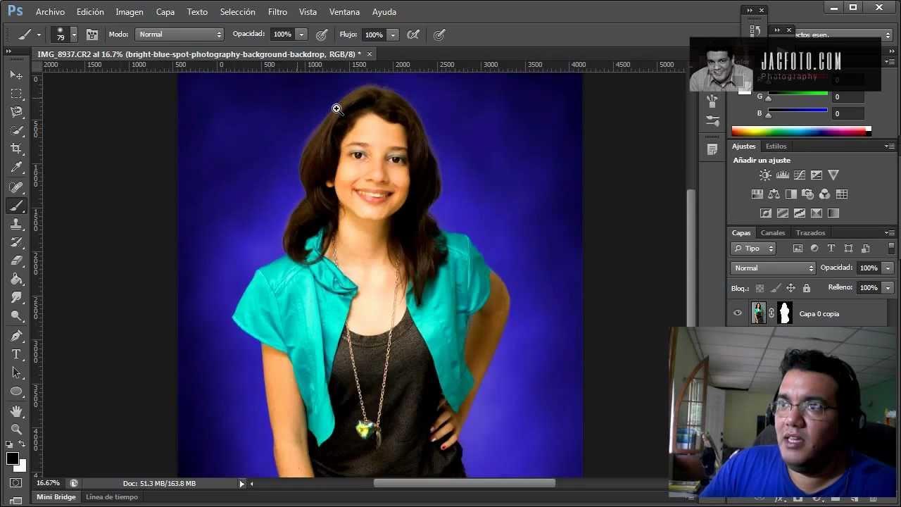 Poner fondo a foto photoshop