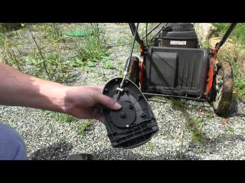 Replacing The Drive Cable On A Husqvarna R 53SV Self Propelled Lawn Mower