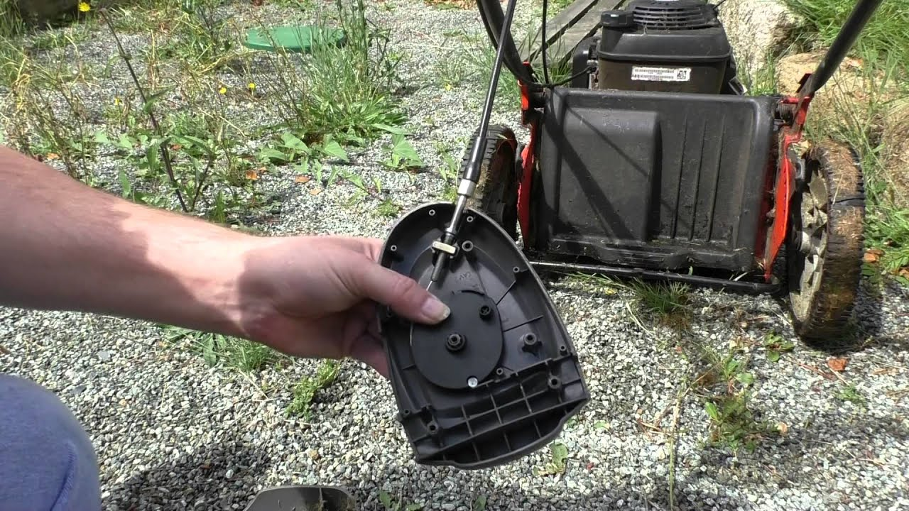 small resolution of replacing the drive cable on a husqvarna r 53sv self propelled lawn mower