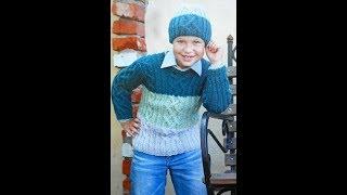 Джемпер для Мальчика 6 лет Спицами - 2019 / Cardigan for Boy 6 years
